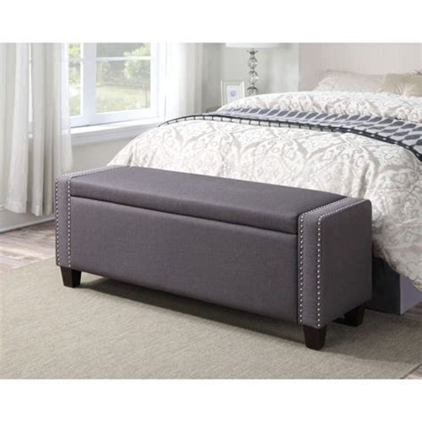 Bedroom Bench Costco by Mirabella Storage Bench In Slate Grey Costco Home
