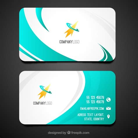 swirly business card template vector