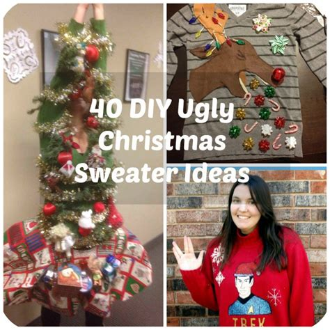 40 Diy Ugly Christmas Sweater Ideas  Big Diy Ideas. Ideas For Christmas Decorations For Front Porch. Christmas Decorating Ideas Blue And Silver. Vintage Christmas Decorations Ideas. Personalized Christmas Ornaments Family