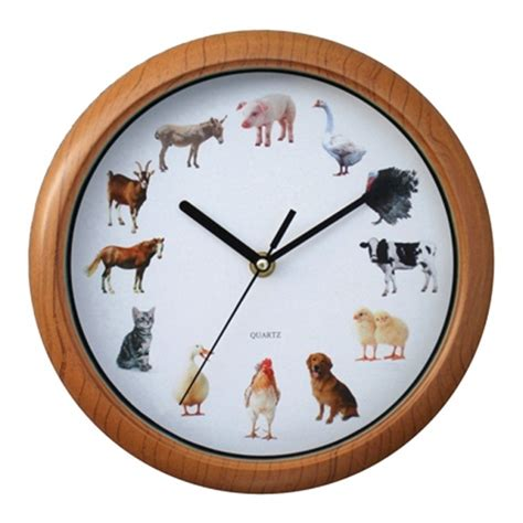 animal sound wall clock    animal sounds