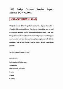 2002 Dodge Caravan Service Repair Manual Download