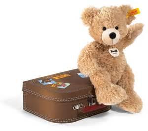 Steiff Fynn Teddy Bear In Suitcase - Beige