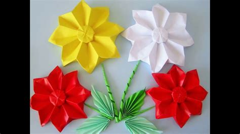 Blumen Aus Papier Selber Falten  Origami Youtube