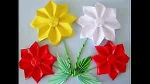 Origami Blumen Falten : blumen aus papier selber falten origami youtube ~ Watch28wear.com Haus und Dekorationen