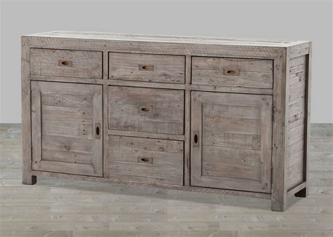 Reclaimed Wood Buffet Sideboard by Reclaimed Wood Black Olive 7 Drawer Sideboard