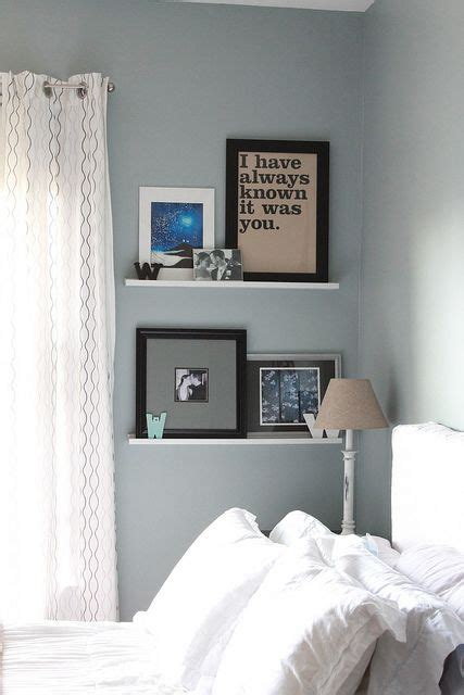 Bedroom Shelf Ideas by Wall Shelves In Bedroom Our Bedroom Blue White