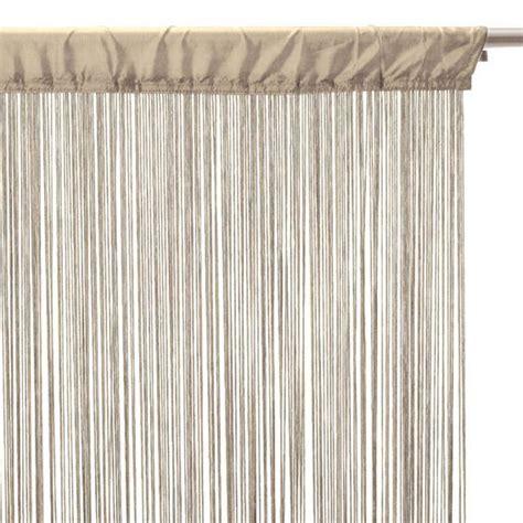 rideau a fil rideau de fil 120 x h240 cm uni rideau de porte eminza