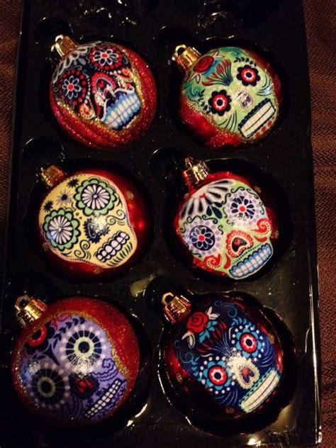 dia de los muertos christmas ornaments