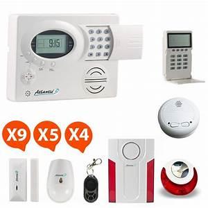 alarme maison sans fil a prix discount complete et sans With prix d une alarme maison