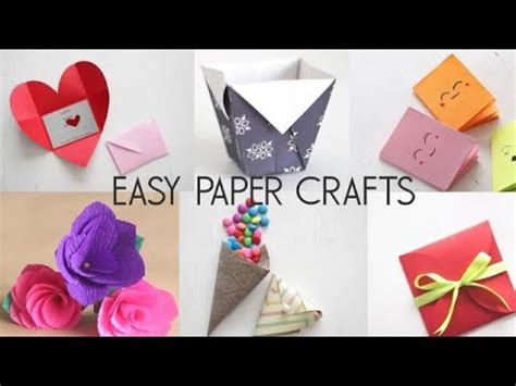 easy paper crafts youtube