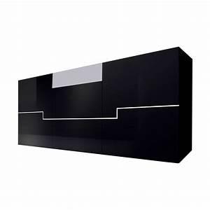 Sideboard Schwarz Weiß Hochglanz : sideboard blackdream hochglanz schwarz wei ~ Bigdaddyawards.com Haus und Dekorationen