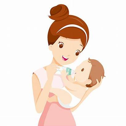 Feeding Mother Mom Clipart Bottle Milk Vector