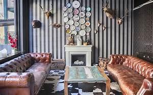 Behangpapier in een modern interieur - Ideeën en voorbeelden