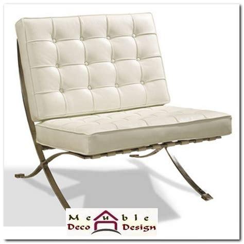 canapé déco fauteuil cuir blanc design