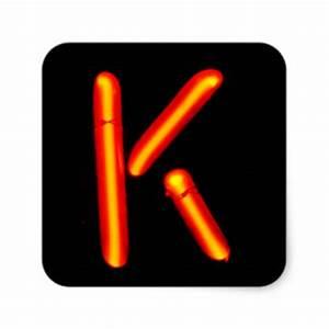 Letter K Monogram Stickers