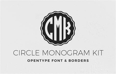 circle monogram font kit medialoot