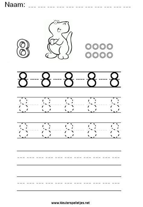 Werkbladen Leren Schrijven by Cijfer 8 Leer Het Cijfer Acht Schrijven Werkblad Om Te