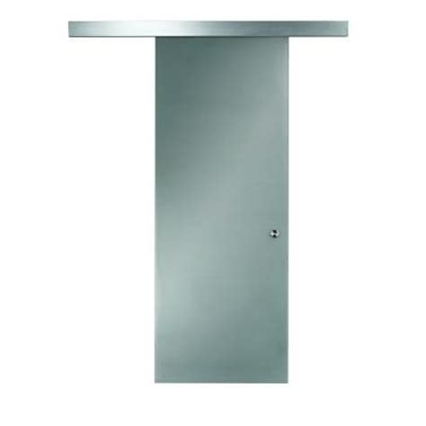 pinecroft 26 in x 97 in glass barn door with sliding
