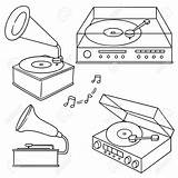 Phonograph Vector Record Player Tattoo 123rf sketch template