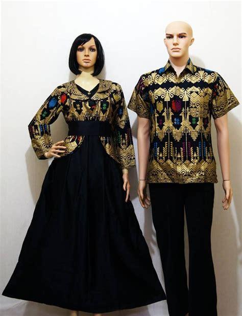 jual beli gamis batik p da hitam modern