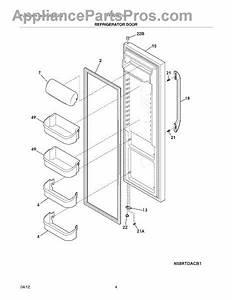 Parts For Frigidaire Ffhs2611lw4  Refrigerator Door Parts
