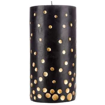 gold and cream pillar candles black gold 3 quot x 6 quot pillar candle with gold dots all things for priss in 2019 black