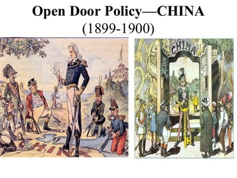 open door policy open door policy 1899