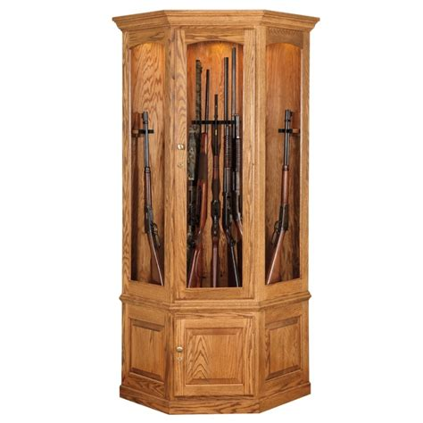 Country Style Living Room Chairs by Black Forest 14 Gun Corner Cabinet Amish Made Corner Gun