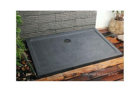 1200 x 900 Shower Tray Granite Stone Trendy Grey   RUBIX