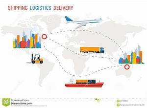Logistics And Delivery From One City To Another Stock