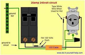 Wiring Diagram 20 Amp 240 Volt Circuit More