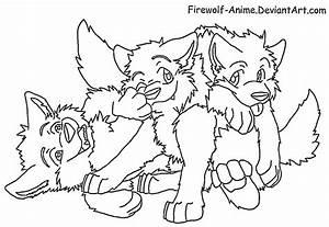 Three Wolf Pups Lineart by Firewolf-Anime on DeviantArt