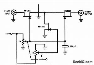 video attenuator amplifier circuit circuit diagram With attenuator circuit