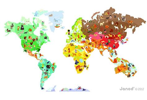 cuisine janod janod magnetic map wall sticker mapyourwall com
