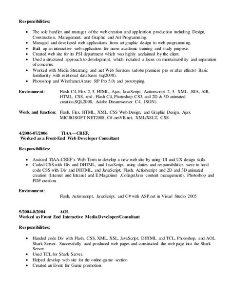 Inspirationfeed Resume by Actionscript Developer Resume