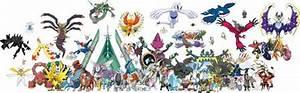 All Legendary Pokemon in PNG