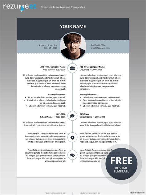 12310 free stylish resume templates free resume template with top banner classic resume