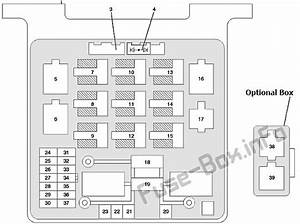 Fuse Box Diagram Isuzu Axiom  2002