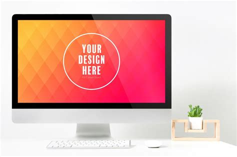 If you design websites or do ui, you are likely to be interested in quality device mockups all the time. Desktop Computer on Desk Mockup 1 - PSD mockup computer ...