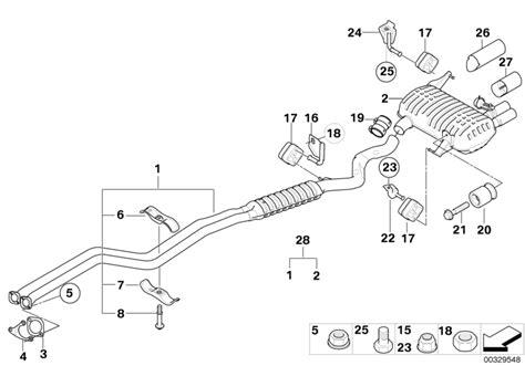 bmw genuine exhaust system rubber mounting e90 e91 e92 e93