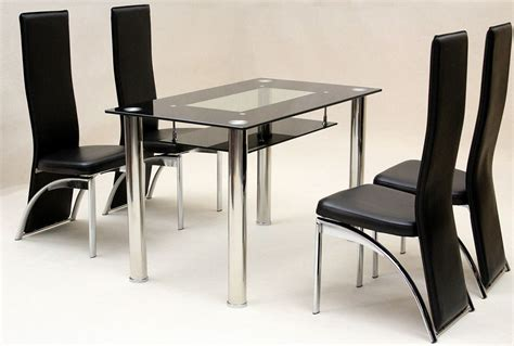 glass table with chairs heartlands vegas black glass dining table with 4 chairs