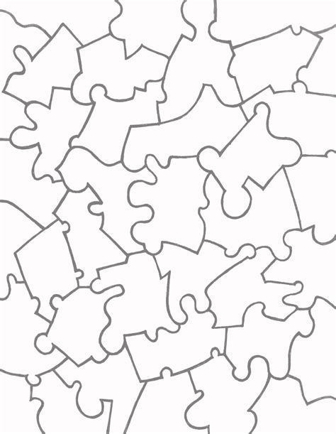 Puzzle Template Paper Jigsaw Puzzle Templates Learn To Coloring