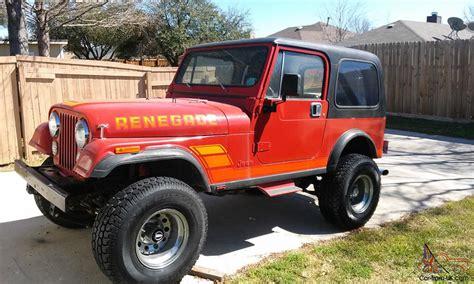renegade jeep cj7 jeep cj7 renegade w chevy 350 conversion no reserve 1983