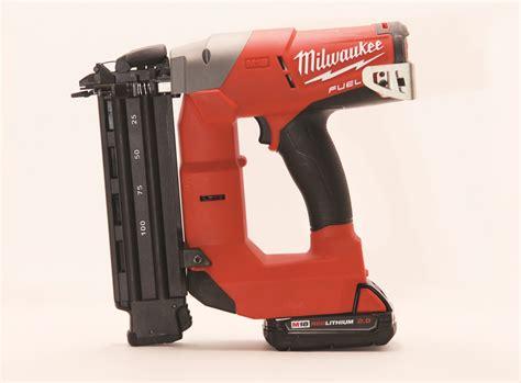 milwaukee   cordless brad nailer tools