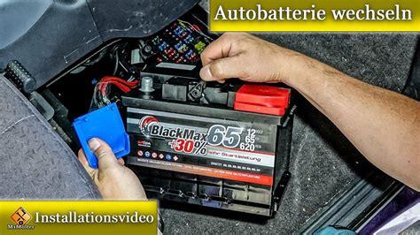 autobatterie wechseln  gehts ausfuehrlich erklaert