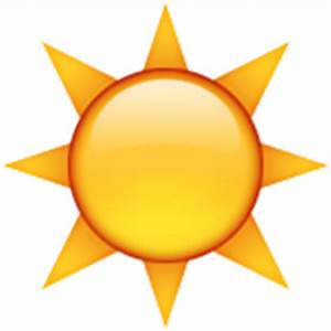 Sun Emojis on iOS, Android, and Twitter