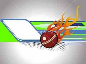 Vector Illustration Of Cricket Background