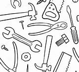 Tools Construction Drawing Coloring Tool Pages Belt Printable Getdrawings sketch template