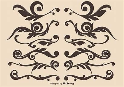 Vector Ornamental Hand Drawn Dividers Designs Divider