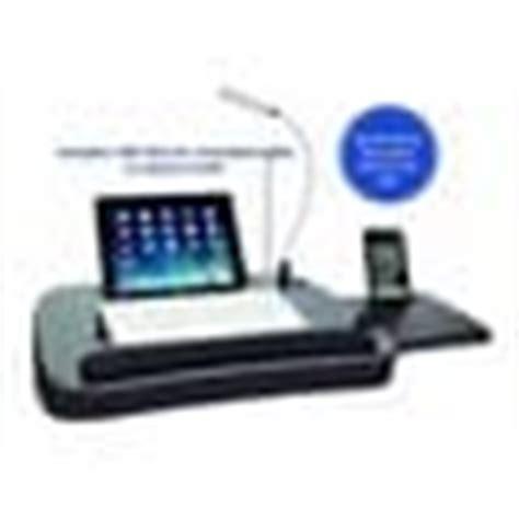 sofia sam multitasking memory foam desk with black top and usb light free shipping on